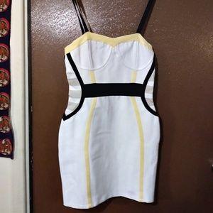 nwt bustier lemon bandage dress